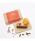 Organic soap with orange and cinnamon