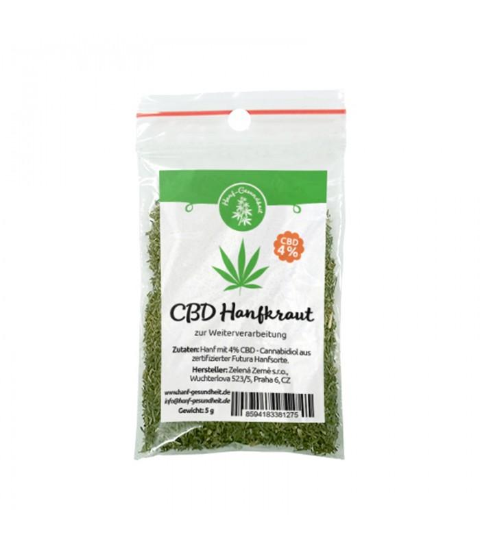 CBD hemp herb 4% for further processing, 5g
